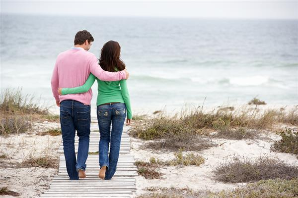 bigstock couple walking by the sea 23247629