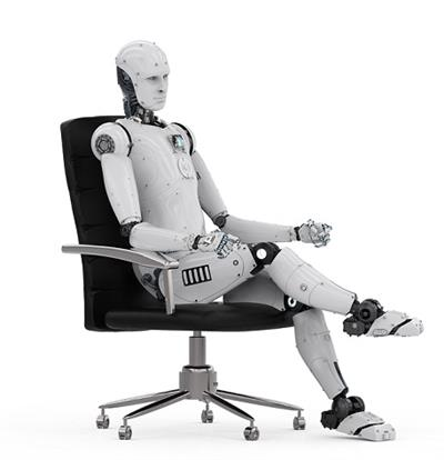 robot on chair