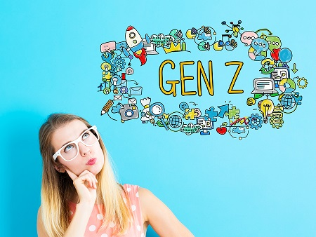 bigstock gen z concept with young woman 161704994