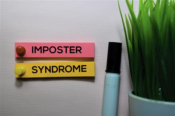 bigstock imposter syndrome text on stic 315587212